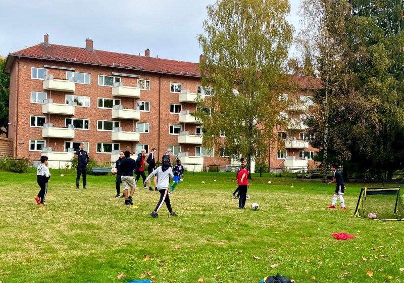 Løkka på Haarklous Plass ble brukt i helga