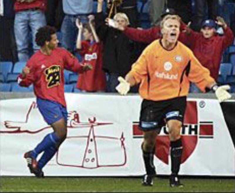 Daniel har avgjort cupkampen mot Vålerenga i 2003.