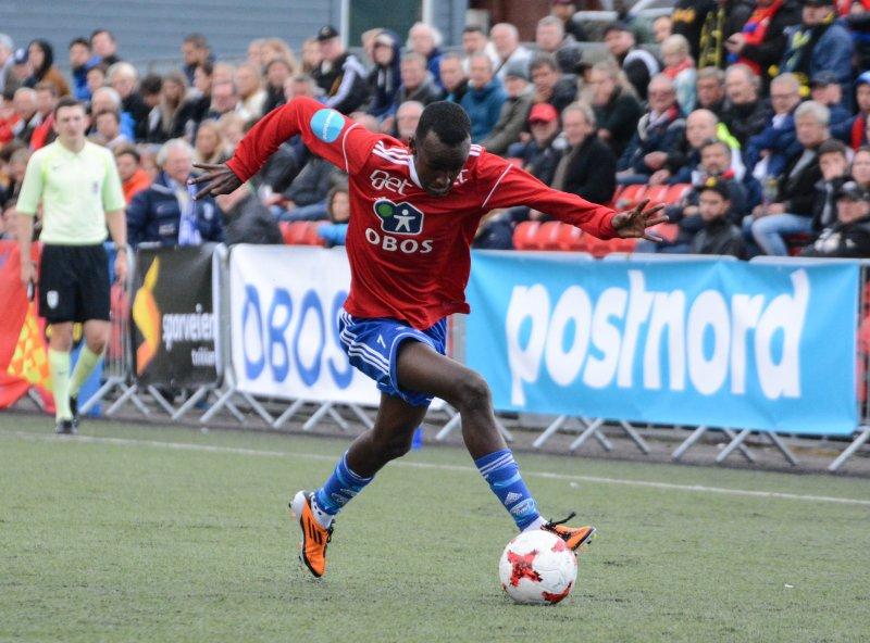 Ballsikre Hassan, her i fint driv på Nordre Åsen.