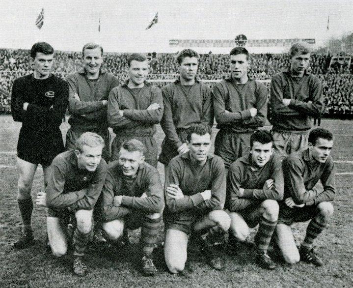 Laget mot FFK i 1963. Wangen nr. 3 fra venstre bak.
