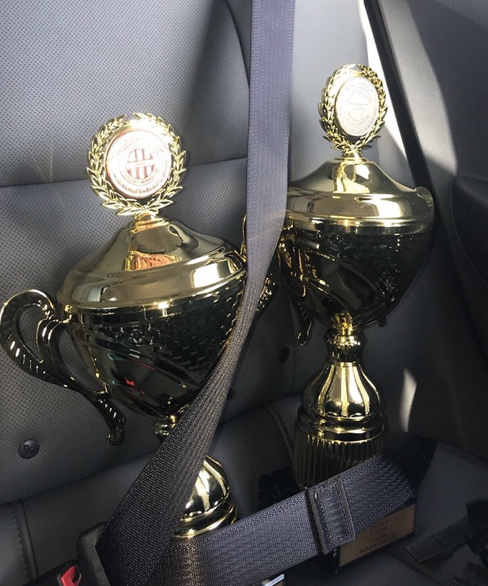 Pokalene på vei til Nordre Åsen!